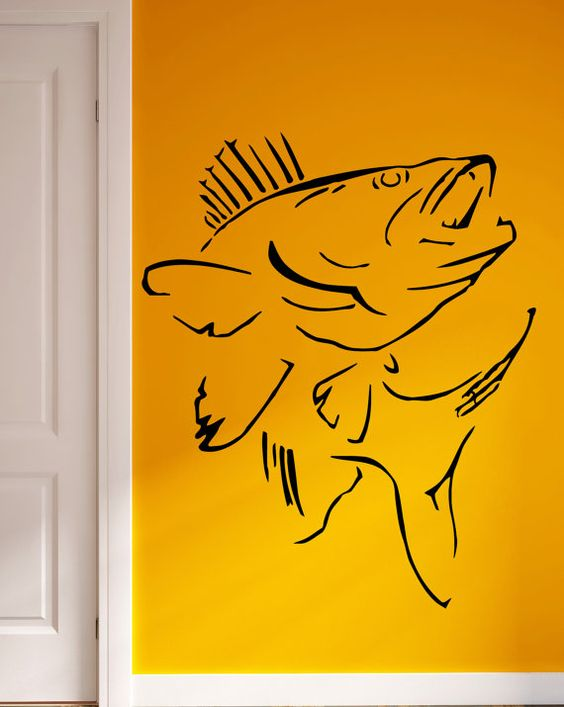 Wall Stickers Vinyl Decal Fish Fishing Relax  Living Room Decor (m206)