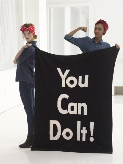 You Can Do It Afghan Knit Free Pattern Lion Brand Yarn And Knitting