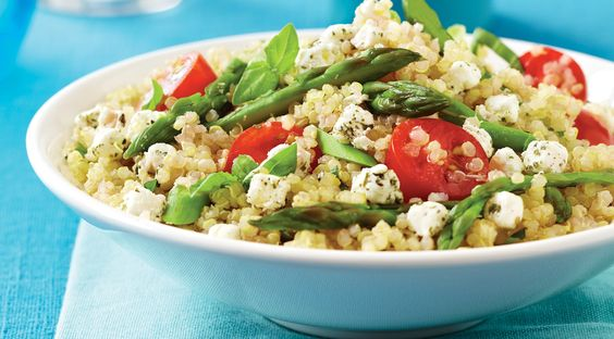 Asparagus, Tomato & Goat Cheese Quinoa Salad | Better Food For All