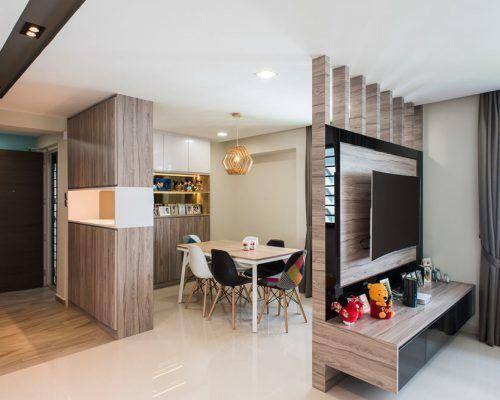 Tampines Living Room Partition Design Living Room Kitchen Partition Living Room Partition
