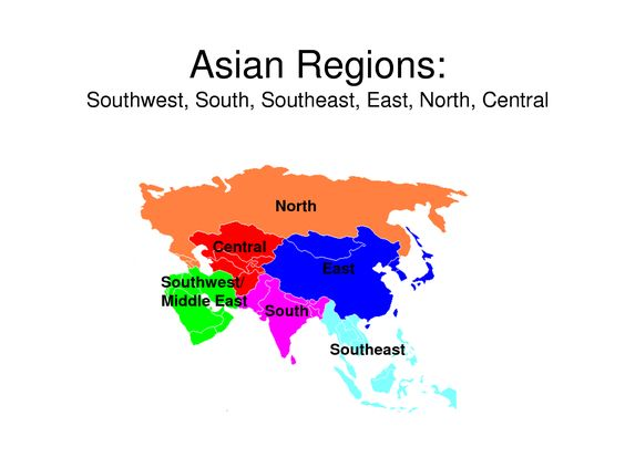 A Current List of the Names of Asian Countries