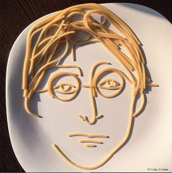 John Lennon in noodles.