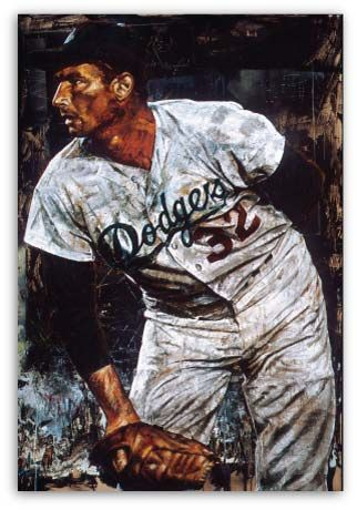 Sandy Koufax Baseball by Stephen Holland