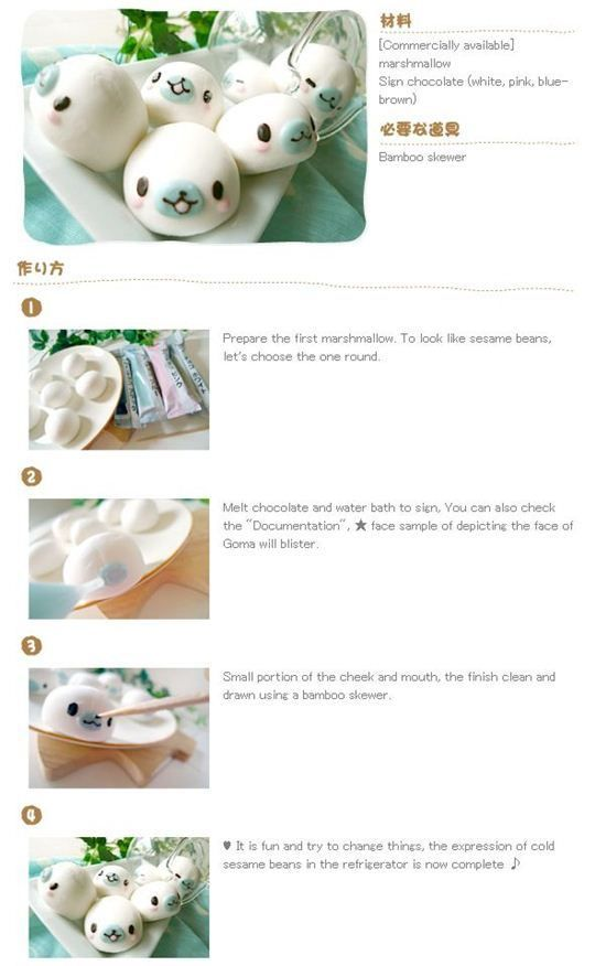 How to Make Cute Mamegoma Bento and Marshmallow