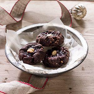 Hazelnut-Chocolate Thumbprint Cookies with Raspberry Jam