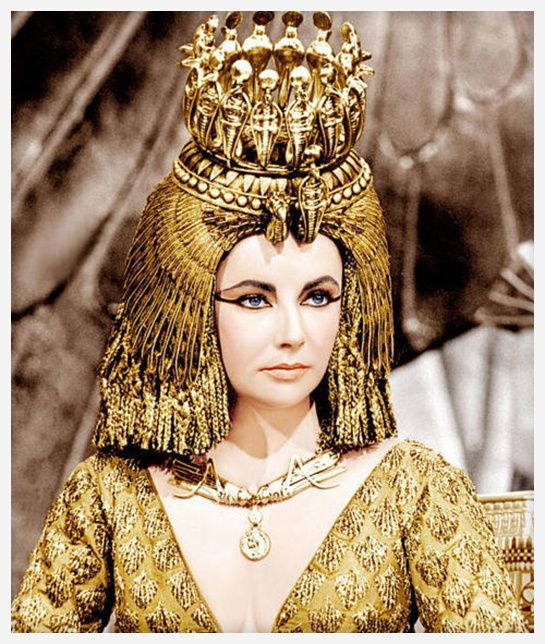 """Movie: Joseph L. Mankiewicz's Cleopatra, 1963.Movie: Joseph L. Mankiewicz's Cleopatra, 1963  Actress: Elizabeth Taylor  Jewelry: Richard Burton wasn't lying when he said """"The only word Elizabeth knows in Italian is Bulgari"""", and it was this film that started the longstanding romance between the actress and the Italian brand, with earrings, a Serpenti watch and a mirror in gold and turquoise designed by Bulgari for this stunning Cleopatra."""