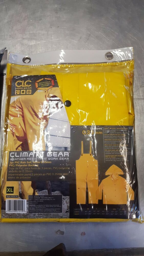 Clc Climate Gear Xl Weather Resistant Work Gear Fashion Clothing