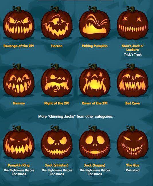 Halloween Pumpkins some featuring Jack Skellington