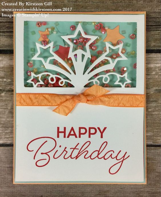 Stampin Up Birthday Blast With Star Blast Framelits Created By