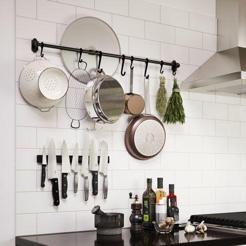 Fintorp Rail Black 31 79 Cm Kitchen Wall Storage Ikea