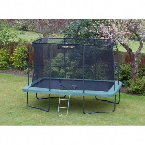 12 Backyard Trampoline With Safety Enclosure Jumpking Trampolinebackyardsafety Backyard Bodentrampolin Hintergarten Trampolin
