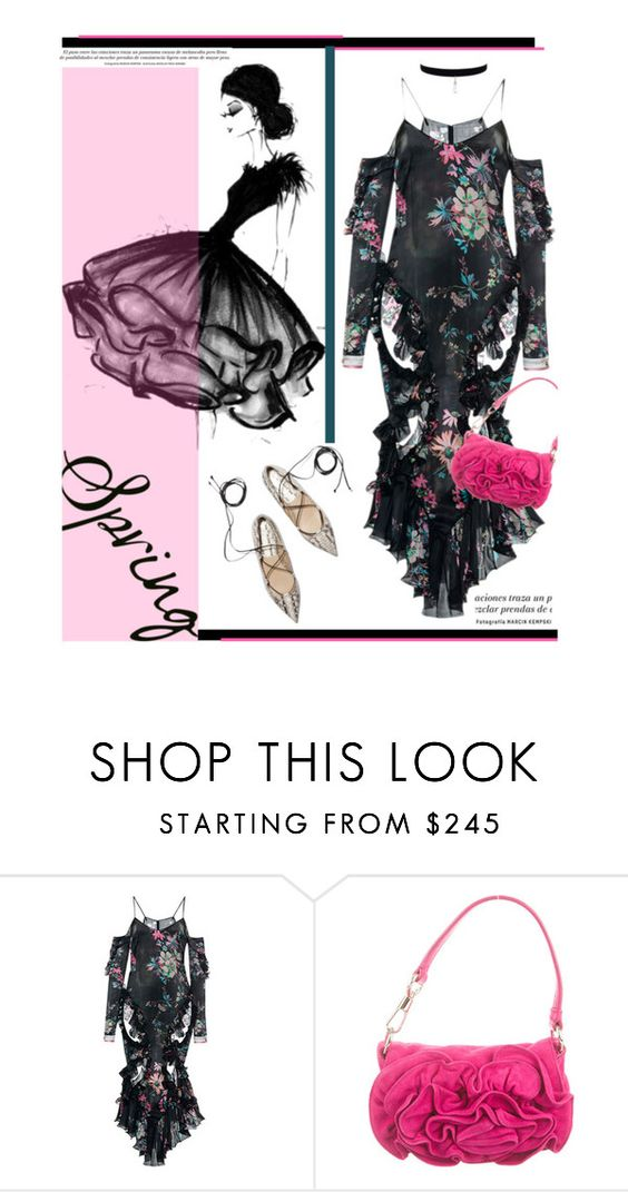 """""""Frilly'"""" by dianefantasy ❤ liked on Polyvore featuring moda, Francesco Scognamiglio, Yves Saint Laurent, ruffles y polyvoreeditorial"""
