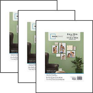 Mainstays 11x14/8x10 Format Frame, Set of 3, Black