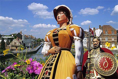 Fête des Géants, Douai, Nord Pas de Calais, France. Festival of Giants.