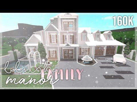 Family House Build Roblox Bloxburg Gamingwithv Roblox Bloxburg Blush Family Manor 160k Speedbuild Youtube In 2020 Family House Plans Two Story House Design Unique House Design