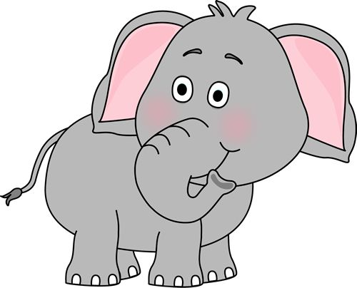 Clip Art Cute Elephant Clipart cute baby elephant clip art looking behind image with