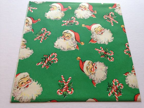 Vintage Christmas Gift Wrapping Paper A by TheGOOSEandTheHOUND