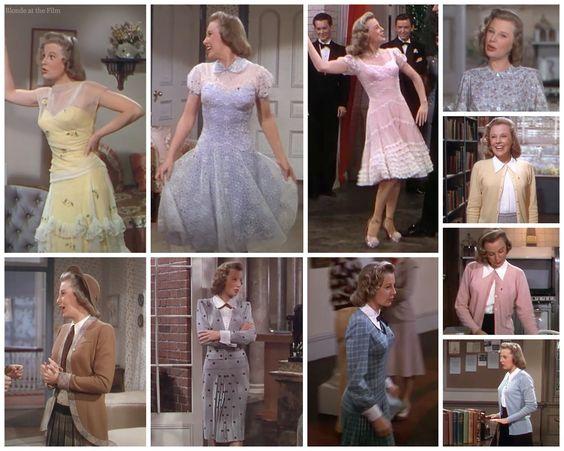 """June Allyson - """"Good News"""" (1947) - Costume designer : Helen Rose"""