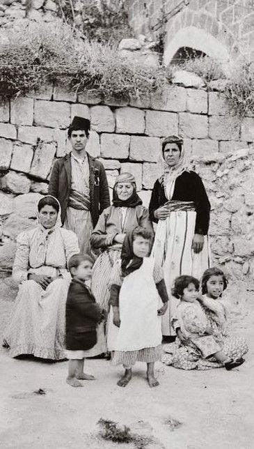 A Jewish family, native from Nazareth (Palestine). Late Ottoman era,1900-1920.