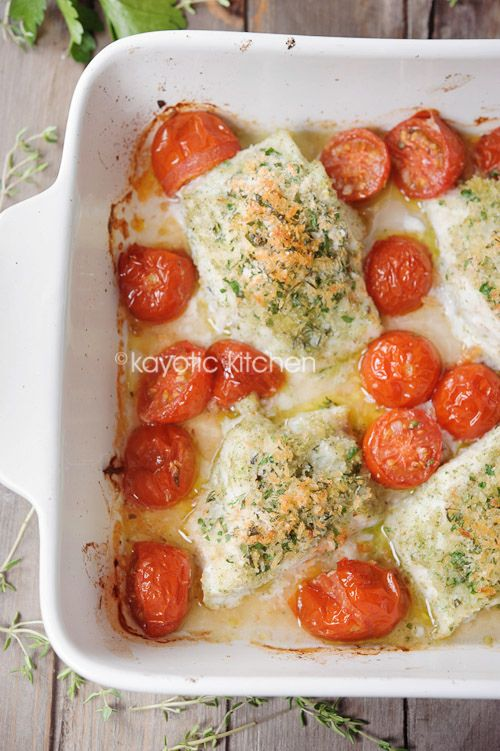Baked Cod With Crispy Herbed Topping