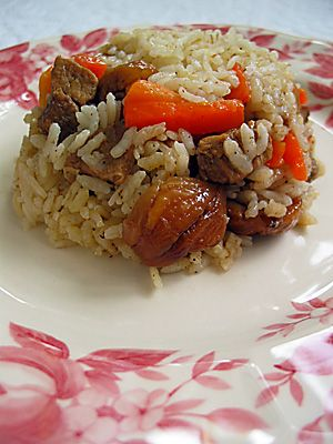 Pilaf with Chestnut Kestaneli pilav