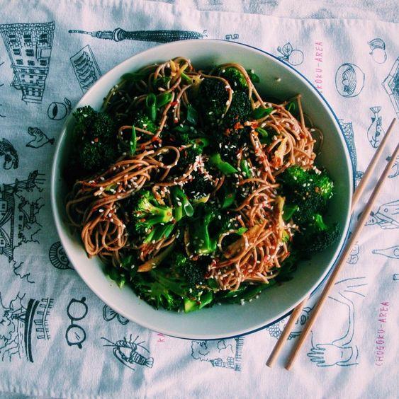 Broccoli, Ginger & Sesame Soba Noodle Bowls: Japanese Recipes