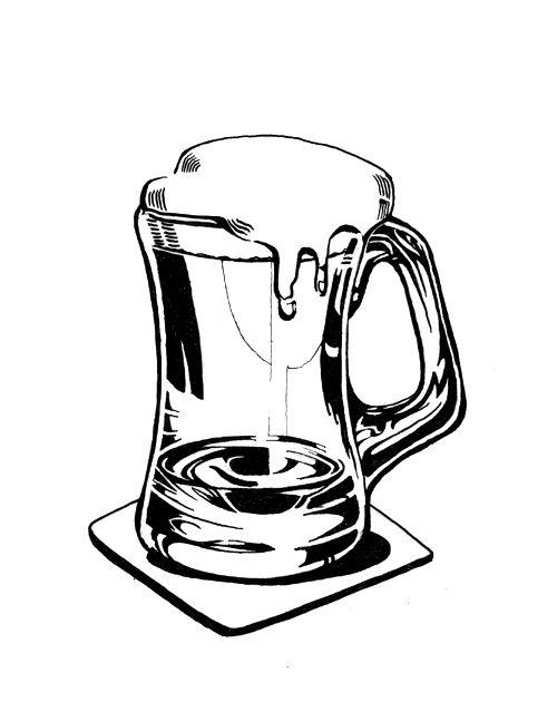 One Line Art Beer : Beer mugs and drawings on pinterest