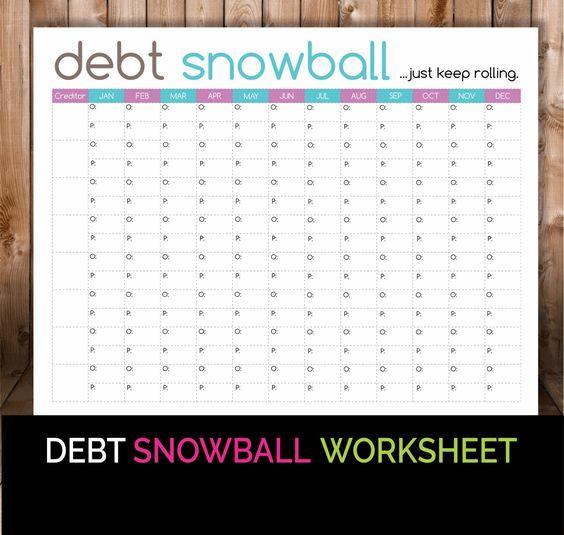 Debt snowball worksheet pdf