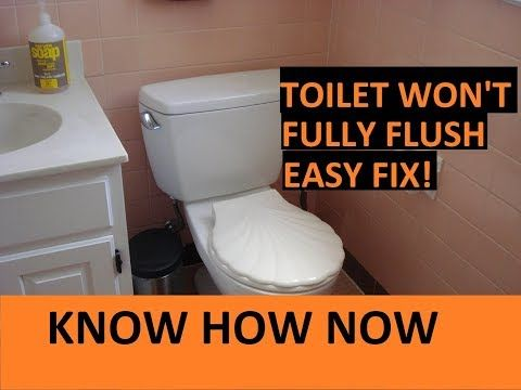 Toilet Not Clogged But Not Flushing Properly Youtube Toilet Low Flow Toilet Flushing