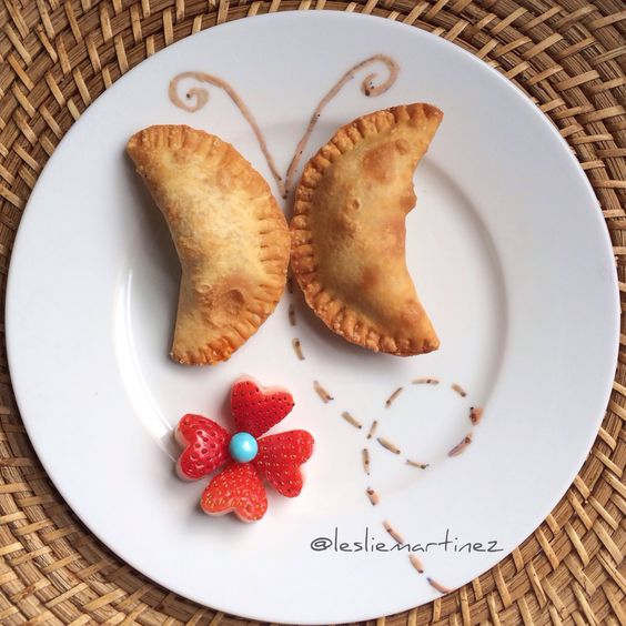 {Chicken Empanadas Butterfly} by @Leslie Martinez #chickenempanadas #funfood