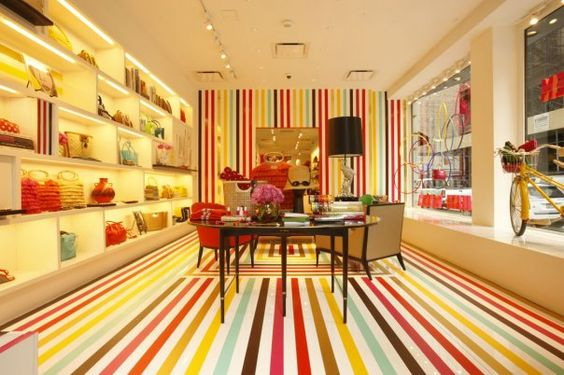 kate spade store: Spade Store, Spade Striped, Retail Interior, Retail Design, Store Design, Retail Space, Kate Spade, Striped Floor