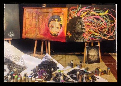 #JF-INK #peintre #landerneau #portraits #pochoir #streetart #art #live #painting