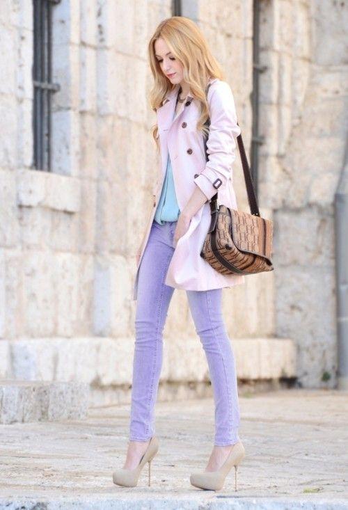 Pastel jeans, pastel jacket