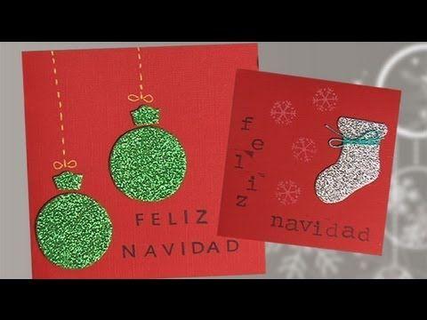 Postales de navidad con purpurina manualidades para ni os - Felicitaciones navidenas caseras ...