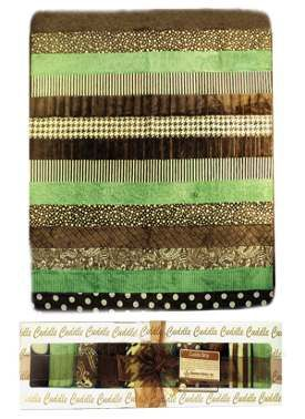 Striped Cuddle Quilt pattern from Shannon Fabrics. This project uses the quilt as you go method for a quick snuggly throw quilt.
