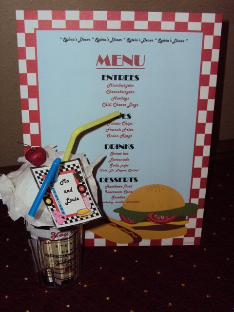 Favors at a 50's Diner Retro Party #retrodiner #partyfavors