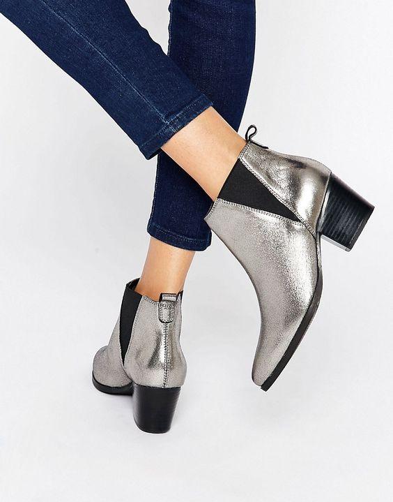 Carvela+Slicker+Leather+Mid+Heeled+Ankle+Boots