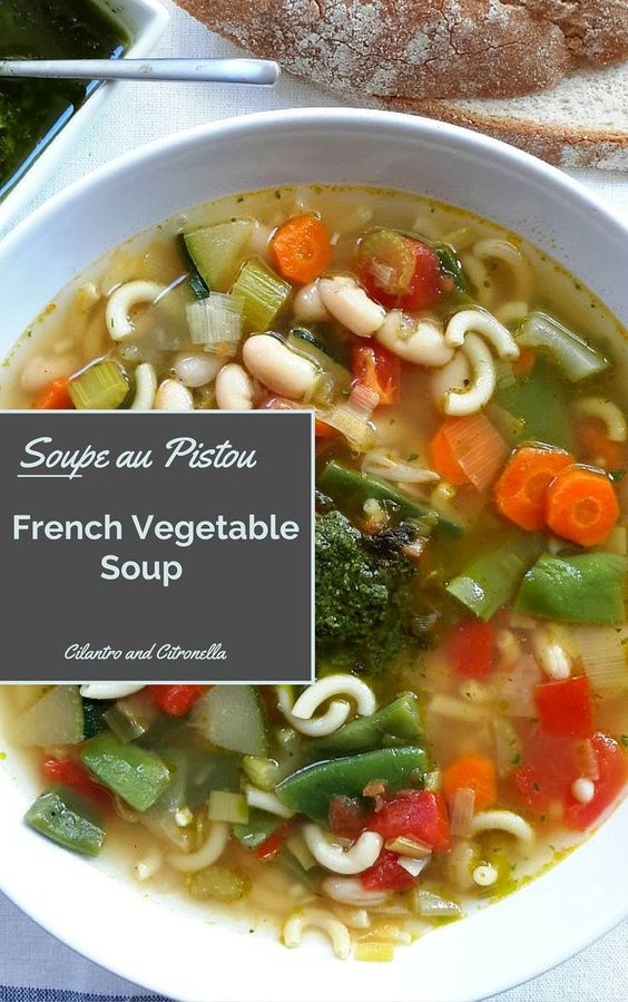 The perfect end of summer soup to use up all your last veggies. Pistou is a pesto-like sauce which is stirred through the soup at serving. Simple but packed with flavour!