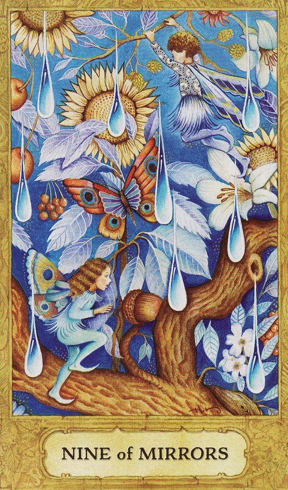 Nine of Mirrors (Cups) - Chrysalis Tarot