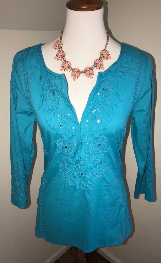 """Calypso St. Barth New W/ Tags $50 Size Xs ** Free Shipping ** Embroidered Archella Tunic. Free shipping and guaranteed authenticity on Calypso St. Barth New W/ Tags $50 Size Xs ** Free Shipping ** Embroidered Archella TunicBrand New With Tags Attached! Calypso """"Archella"""" T..."""