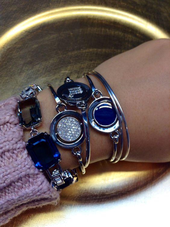 Feeling #blue? Express yourself with #WORDplay and Dark Star! #Carolee #fallfashion #armcandy