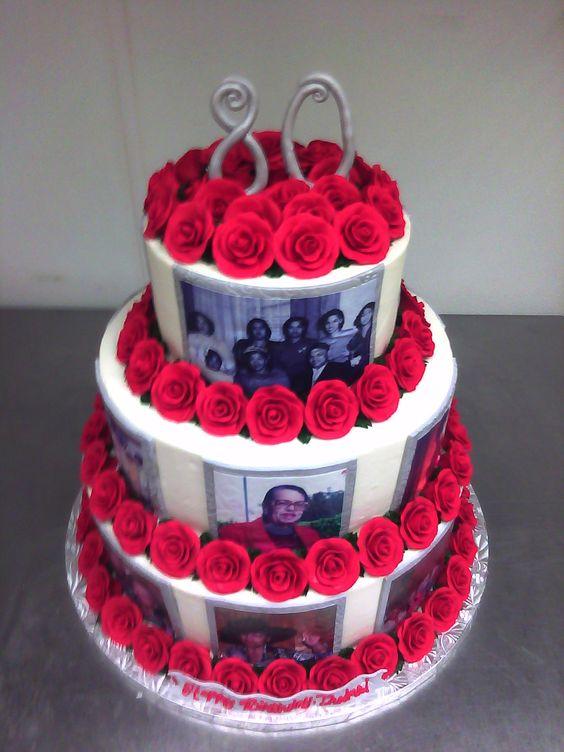 Birthday cakes for women 80th birthday cake designs for for 70th birthday cake decoration ideas