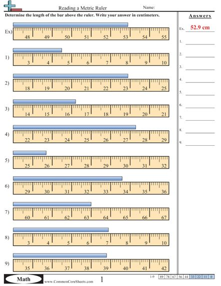 Printables Reading A Ruler Worksheet worksheet e more measurement activities this one involves a ruler