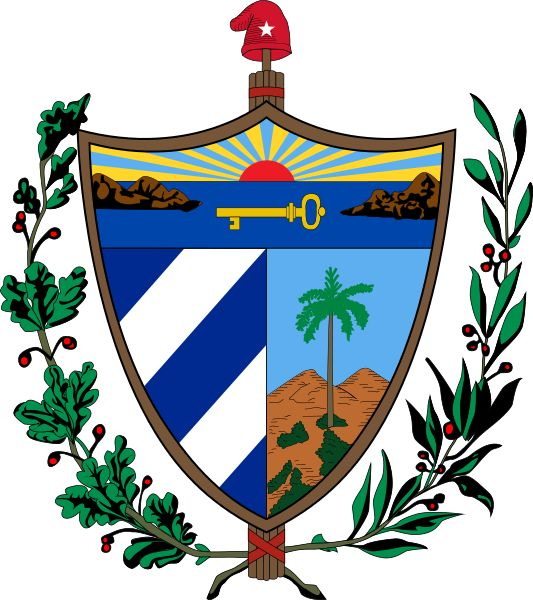 Coat of arms of Cuba - nakrycie głowy ujednolicone z: https://de.pinterest.com/pin/452752568772193530/  Emblem of the United States Department of the Army: