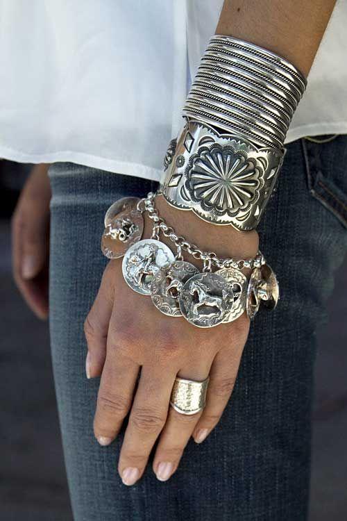 Bracelets! I love this look...