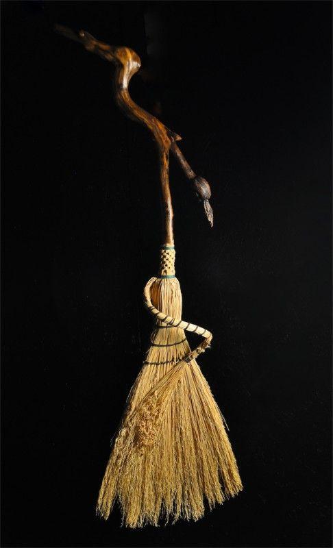 Mark Hendry. Faerie Broom w/ knotty driftwood handle