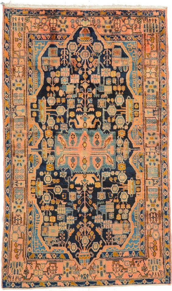 home chic raleighv persian rug orange and blue rug orange blue pink rug patterned rug. Black Bedroom Furniture Sets. Home Design Ideas
