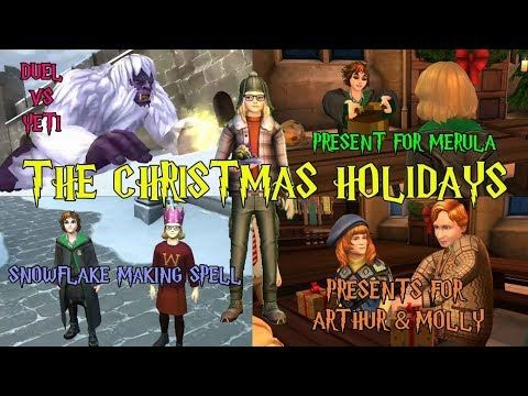 The Christmas Holidays Side Quest Harry Potter Hogwarts Mystery Youtube Hogwarts Mystery Hogwarts Christmas Holidays