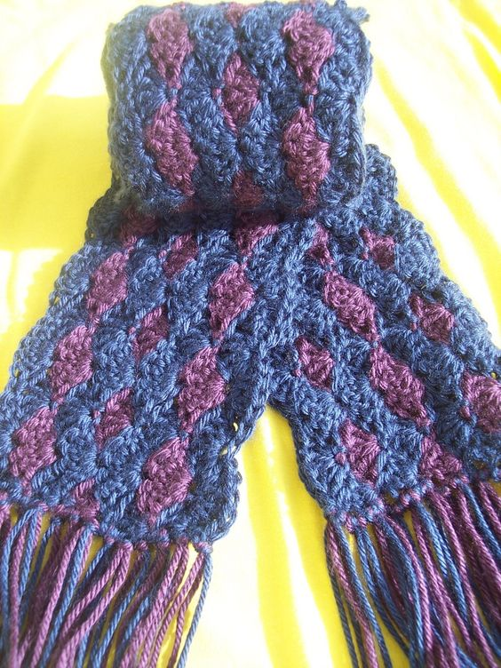 Free Crochet Shell Shawl Patterns : Free Soft and Squishy Shell Scarf Crochet Pattern ...