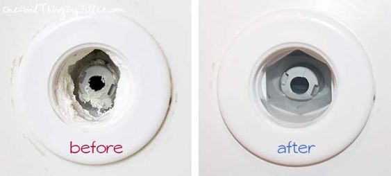 Remove hard water deposits from your bathtub...no scrubbing required!